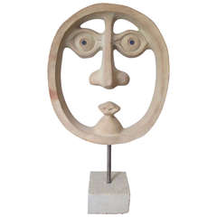 David Gil for Bennington Pottery Ceramic Head
