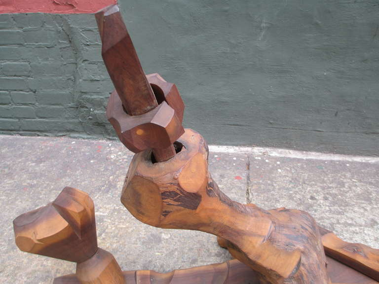 Wood Cubist Sculpture by Leo Russel 4