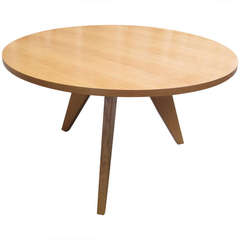 Jean Prouve Gueridon Round Dining Table for Vitra