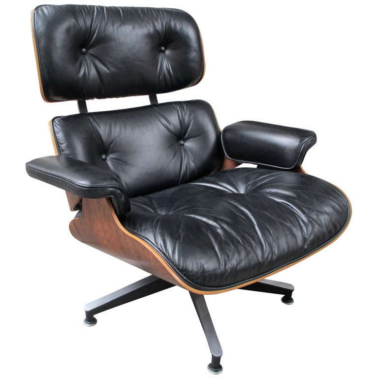 Eames Rosewood Lounge Chair by Herman Miller at 1stdibs