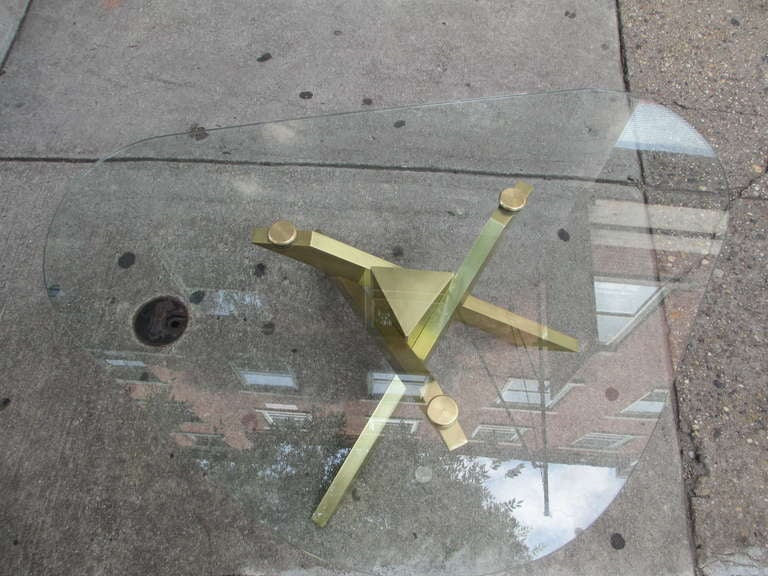 Brass and Glass Coffee Table 3