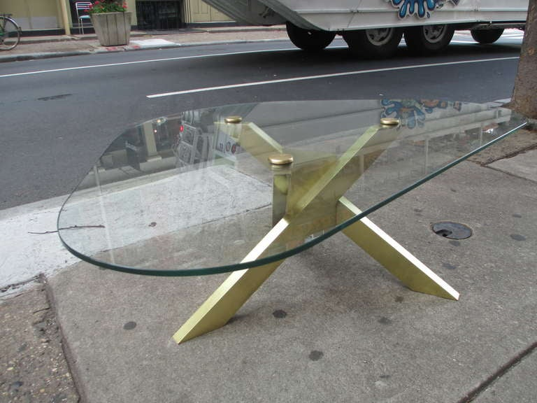 Brass and Glass Coffee Table 4