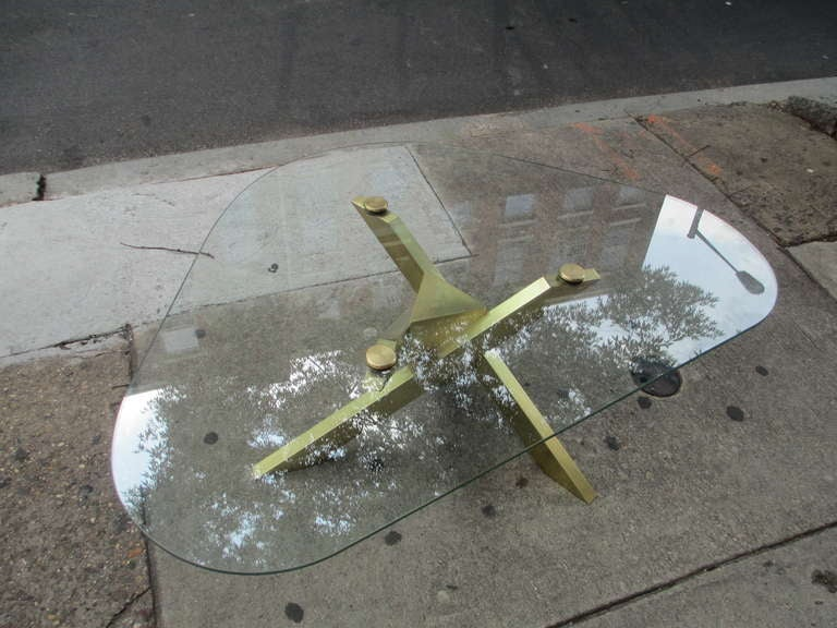 Brass and Glass Coffee Table 5