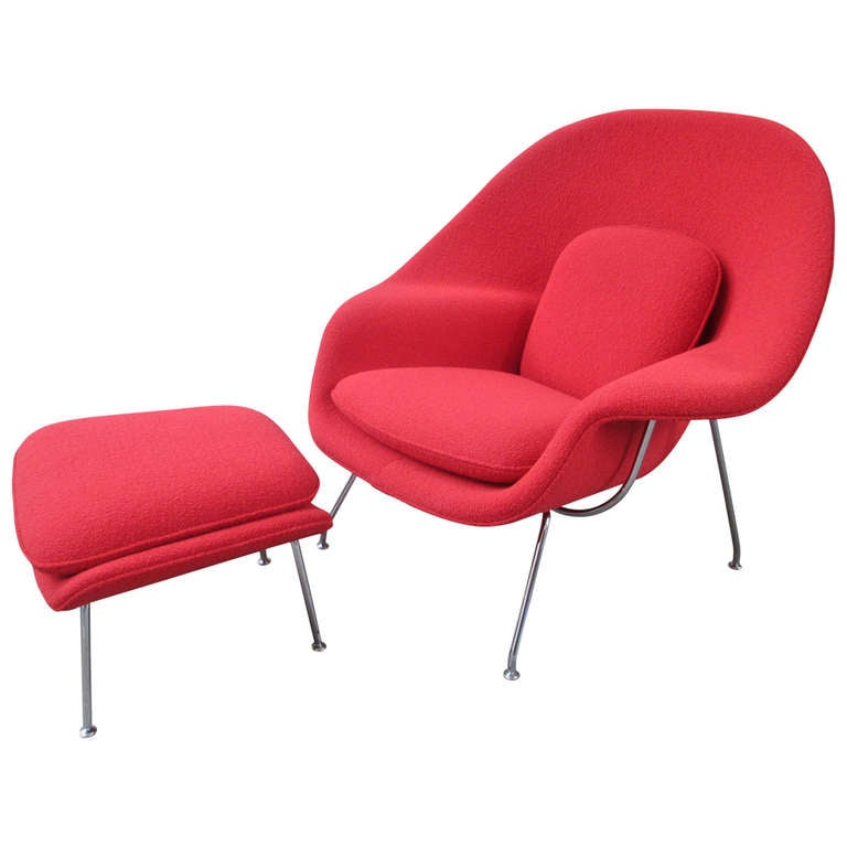 saarinen for knoll womb chair and ottoman at 1stdibs. Black Bedroom Furniture Sets. Home Design Ideas