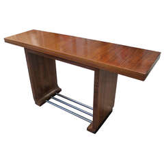 Gilbert Rohde East Indian Laurel for Heman Miller Console/Dining Table