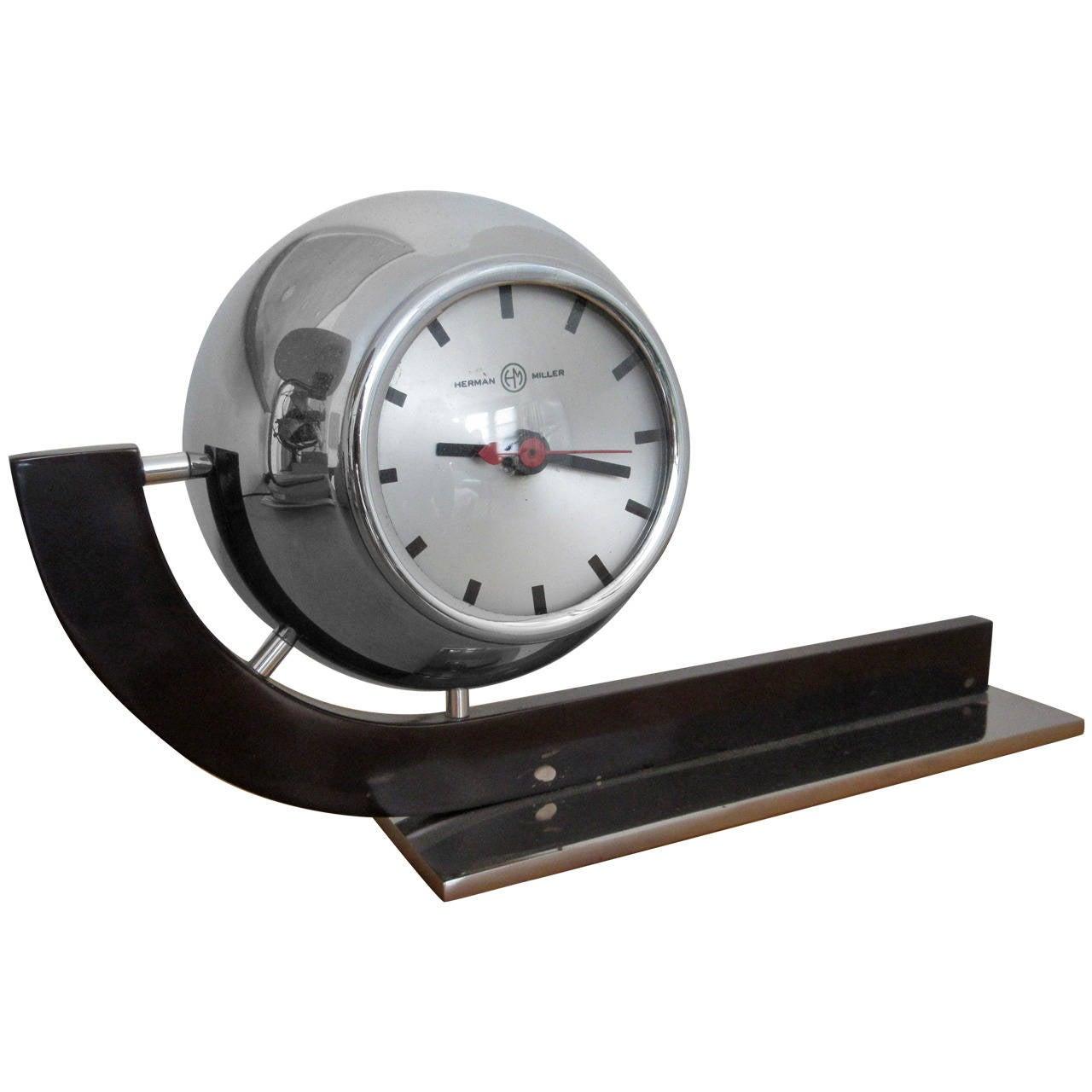 Rare Gilbert Rohde For Herman Miller Desk Clock At 1stdibs