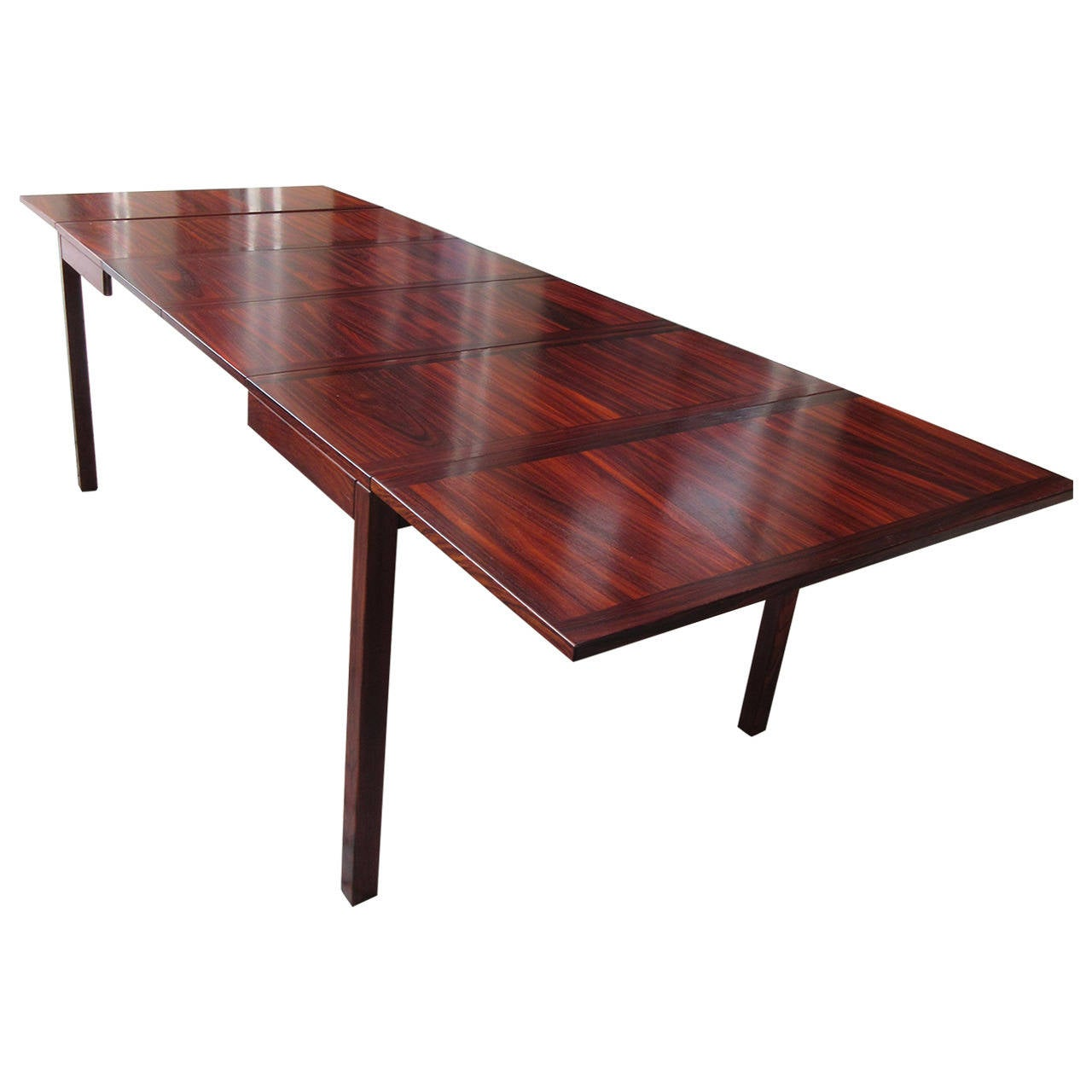 Kai winding rosewood drop leaf extension table by vejle at for Drop leaf extension table