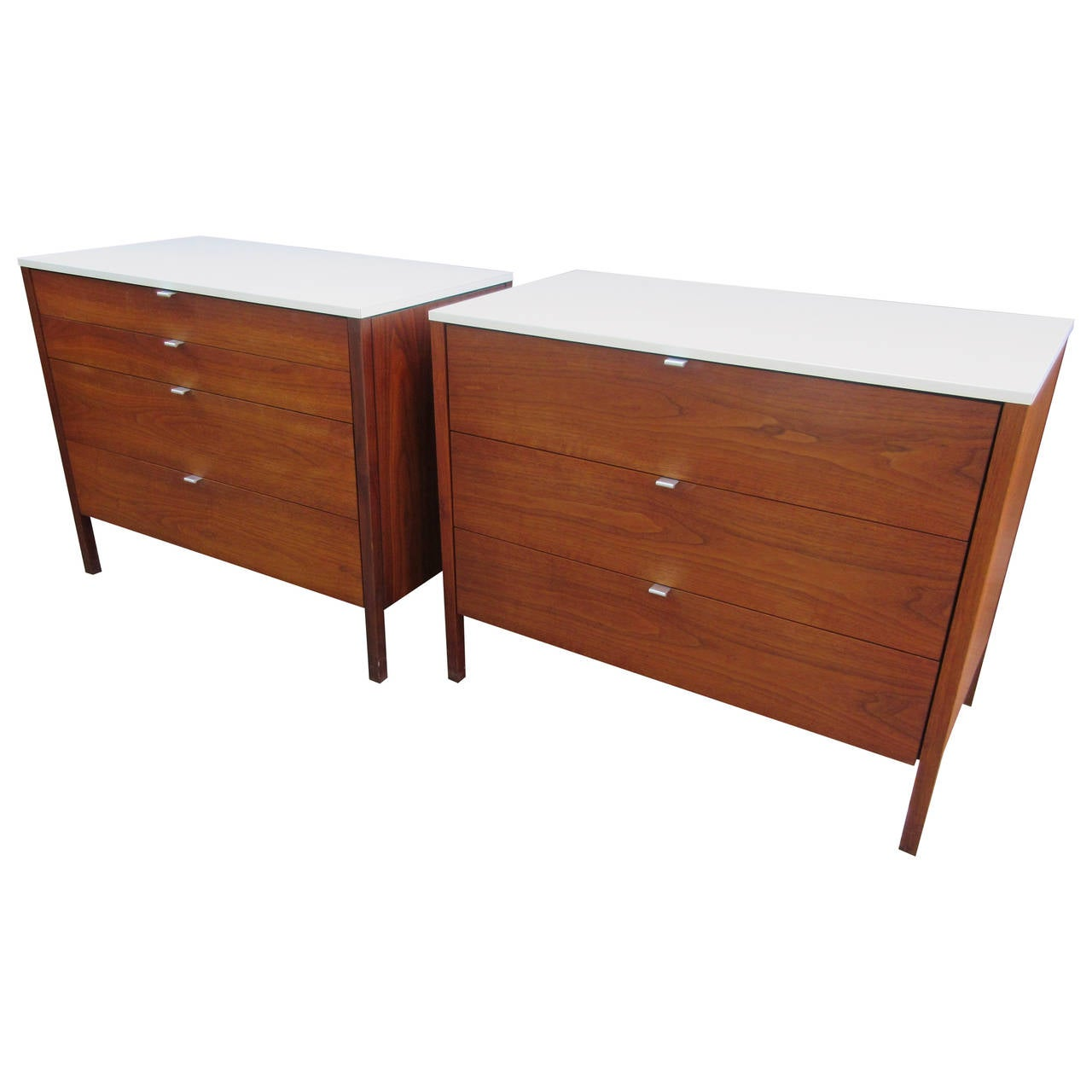 Florence Knoll for Knoll Associates Walnut Chests  1