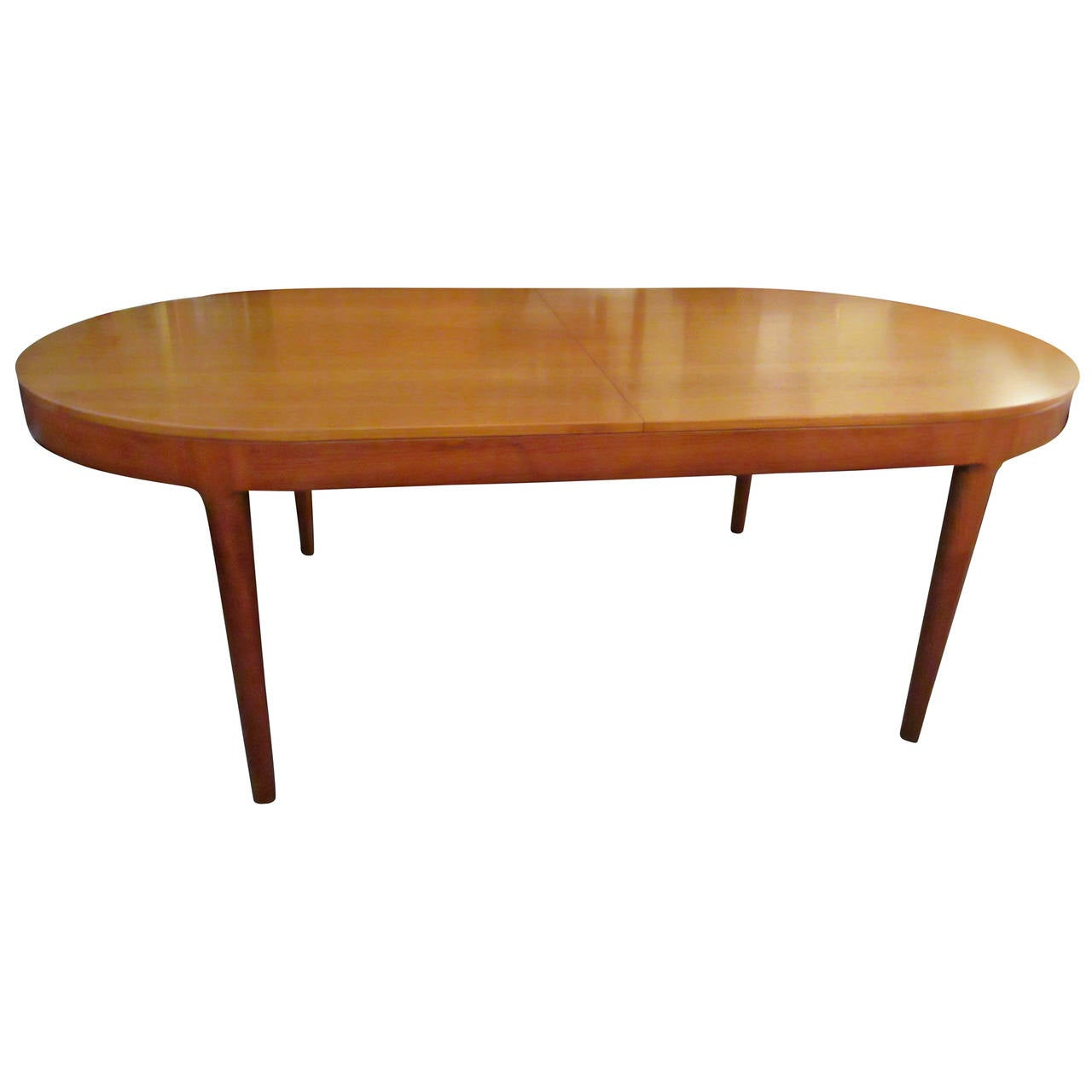Moreddi oval danish teak dining table at 1stdibs for Oval dining table