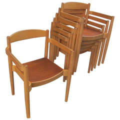 Peter Hvidt Style Stacking Armchairs