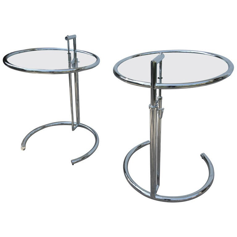 eileen gray adjustable height side tables at 1stdibs. Black Bedroom Furniture Sets. Home Design Ideas