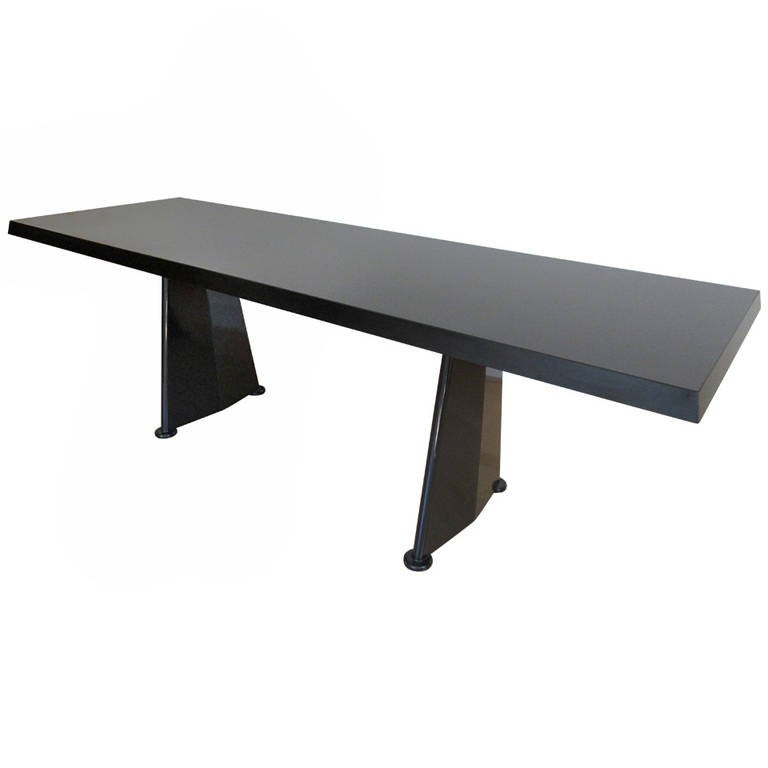 jean prouve trapeze table for vitra at 1stdibs. Black Bedroom Furniture Sets. Home Design Ideas