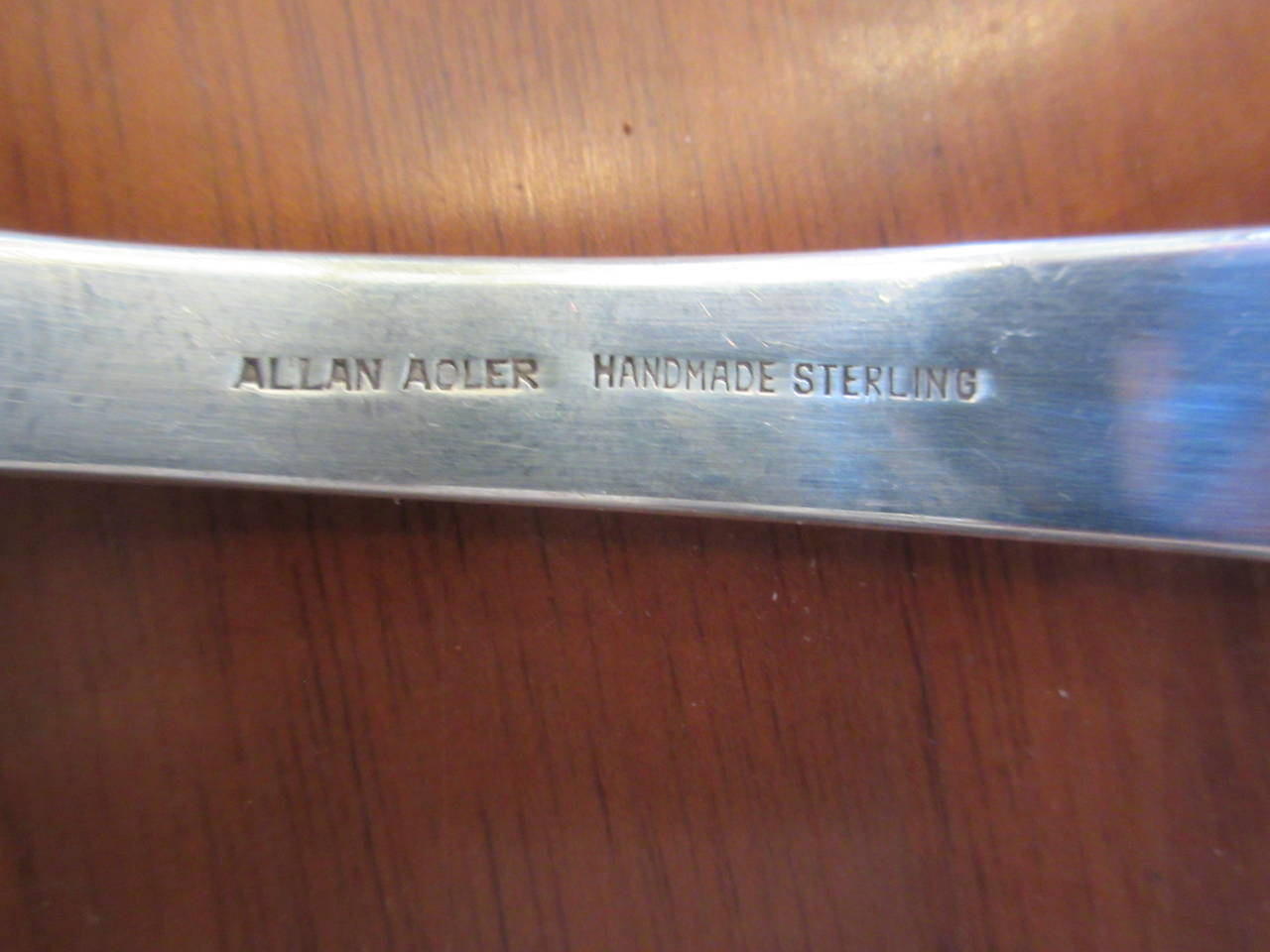 Allan Adler Salad or Serving Pieces Hand-Hammered Sterling 4