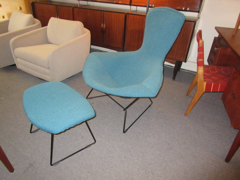 Bertoia Bird Chair and Ottoman for Knoll in Cato Fabric at 1stdibs – Bertoia Bird Chair Cover