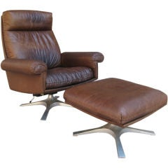 De Sede Louge Chair and Ottoman