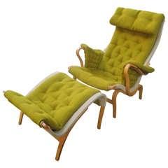 Bruno Mathsson Pernilla Chair and Ottoman