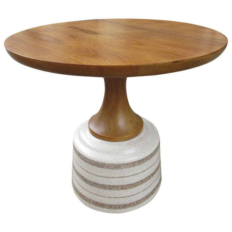 Ceramic Side Table Contemporary