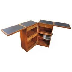 Danish Teak Bar in a Box with Flip-Top