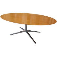 Florence Knoll for Knoll Pearwood Oval Dining Table