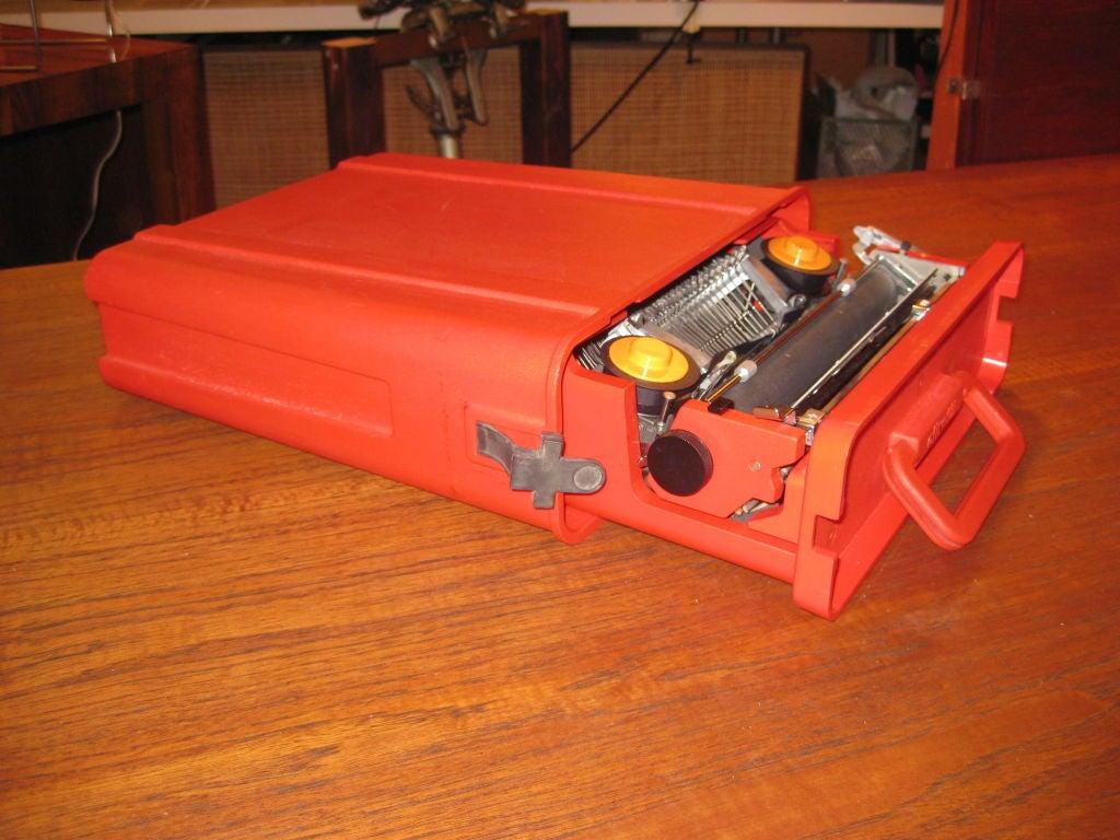Mid-20th Century Ettorre Sottsass Valentine Olivetti Portable Typewriter For Sale
