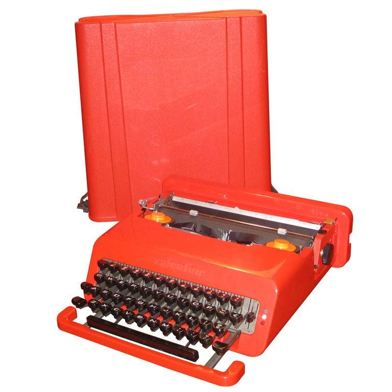 Ettorre Sottsass Valentine Olivetti Portable Typewriter For Sale