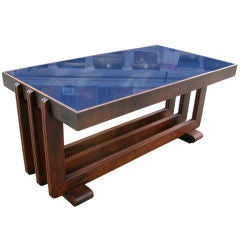 Machine Age Cocktail Table with Streamline Design