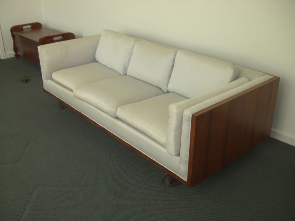 Rosewood Custom Sofa In The Style Of Milo Baughman At 1stdibs