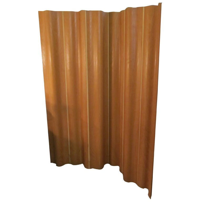 Charles Eames for Herman Miller Folding 6 Panel Screen in Ash For Sale