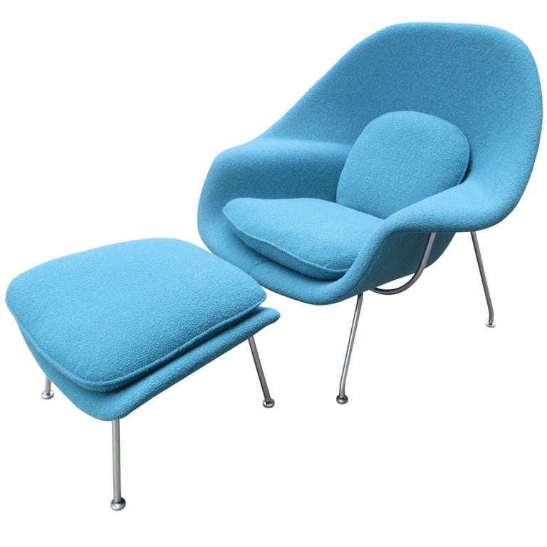 Eero saarinen womb chair and ottoman for knoll associates for Knoll and associates