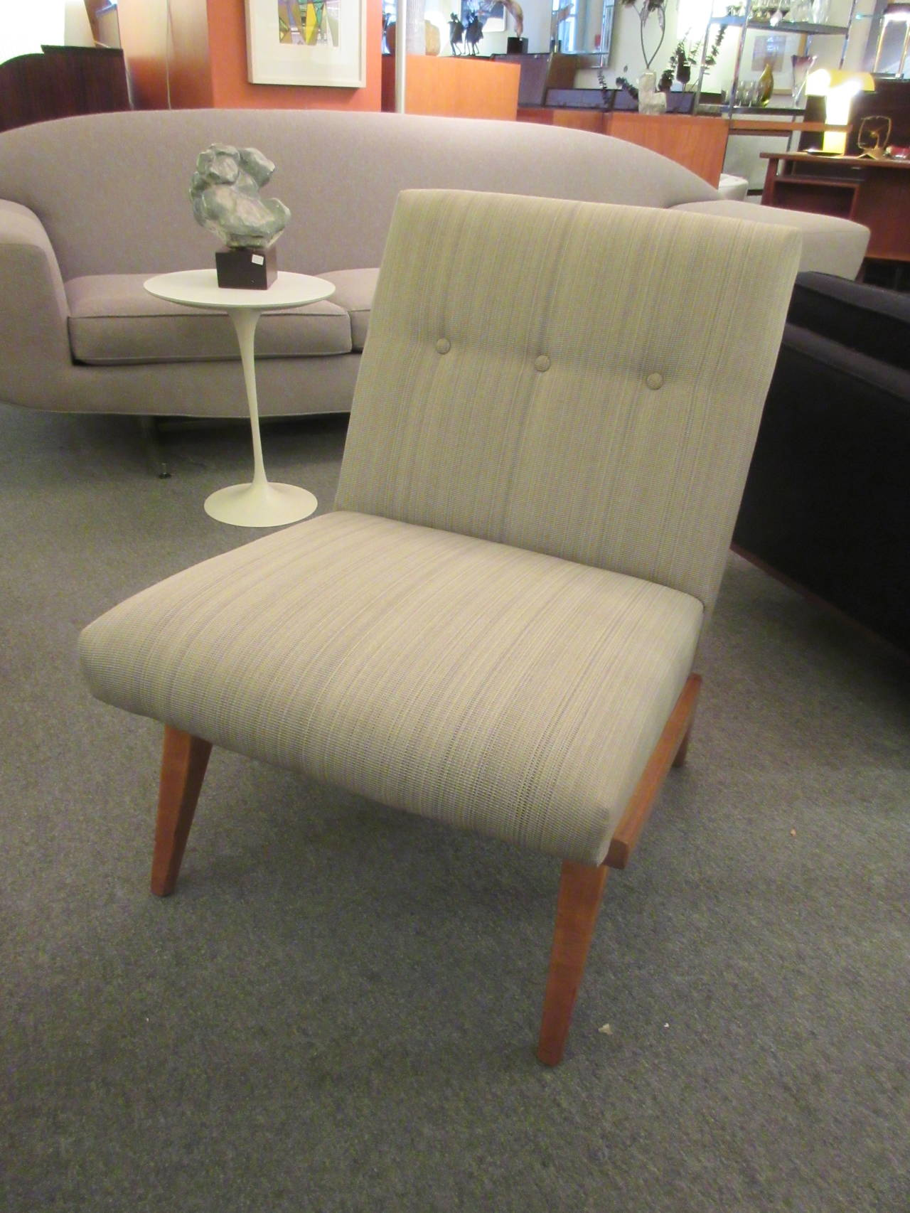 Jens Risom Settee And Two Chairs For Knoll Associates At
