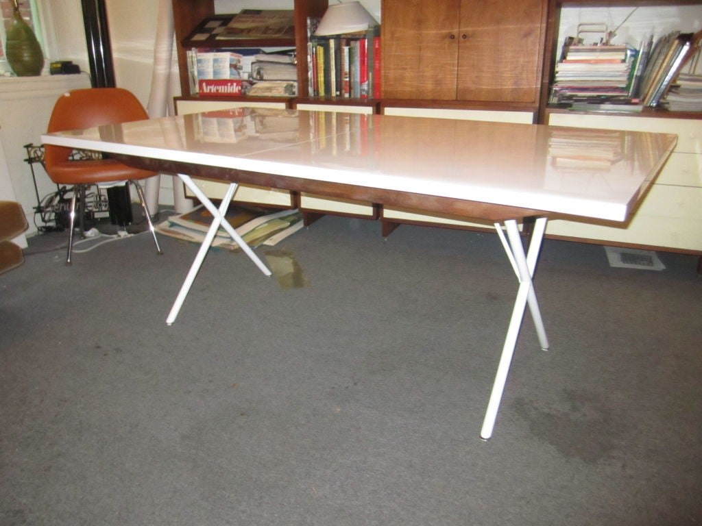 george nelson for herman miller x leg dining table 2