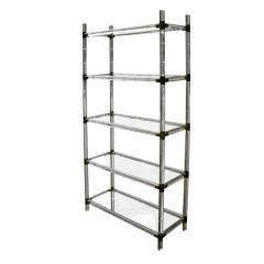 Lucite And Brass Etagere