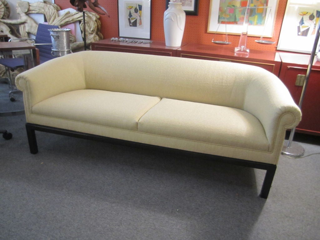 Small Scale Sofa In Modernized Traditional Style At 1stdibs