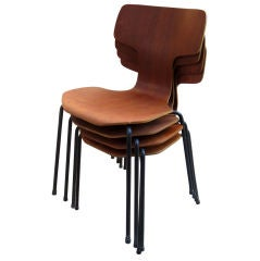 Arne Jacobsen 3103 Stacking Chairs by Fritz Hansen