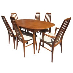 Elsteds Agerbaek Danish Teak Dining Table and six chairs