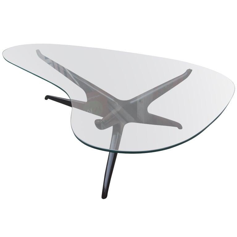 Vladimir Kagan Biomorphic Glass Coffee Table At 1stdibs