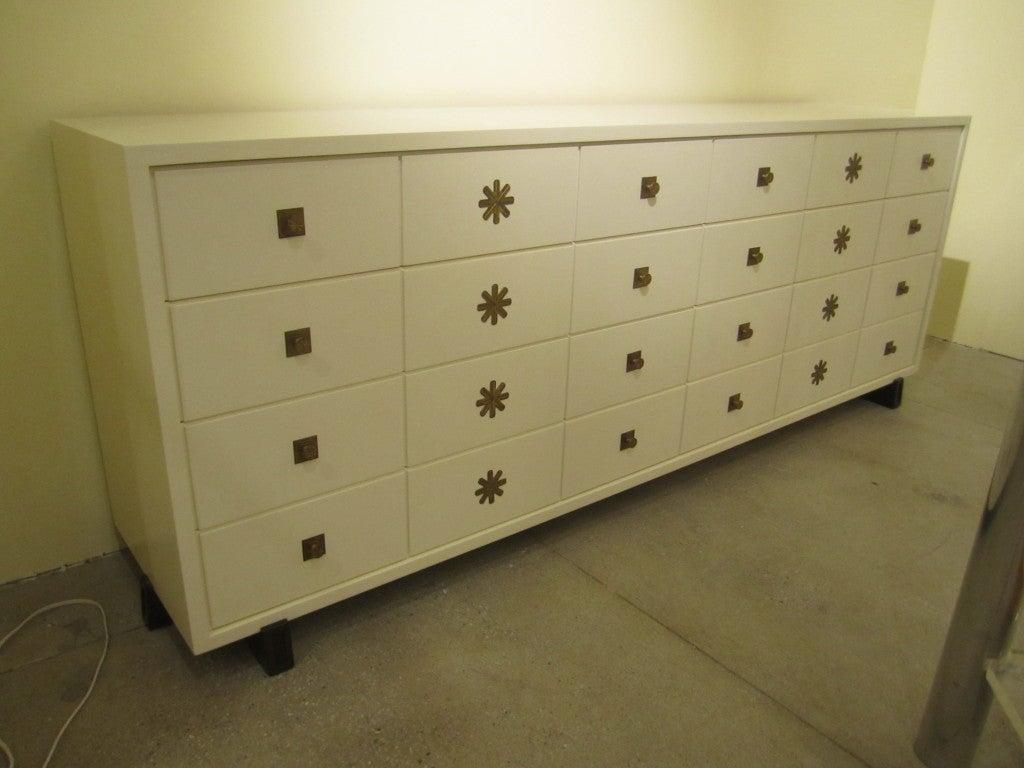 Tommi Partzinger Original 8 Drawer Dresser In Ivory