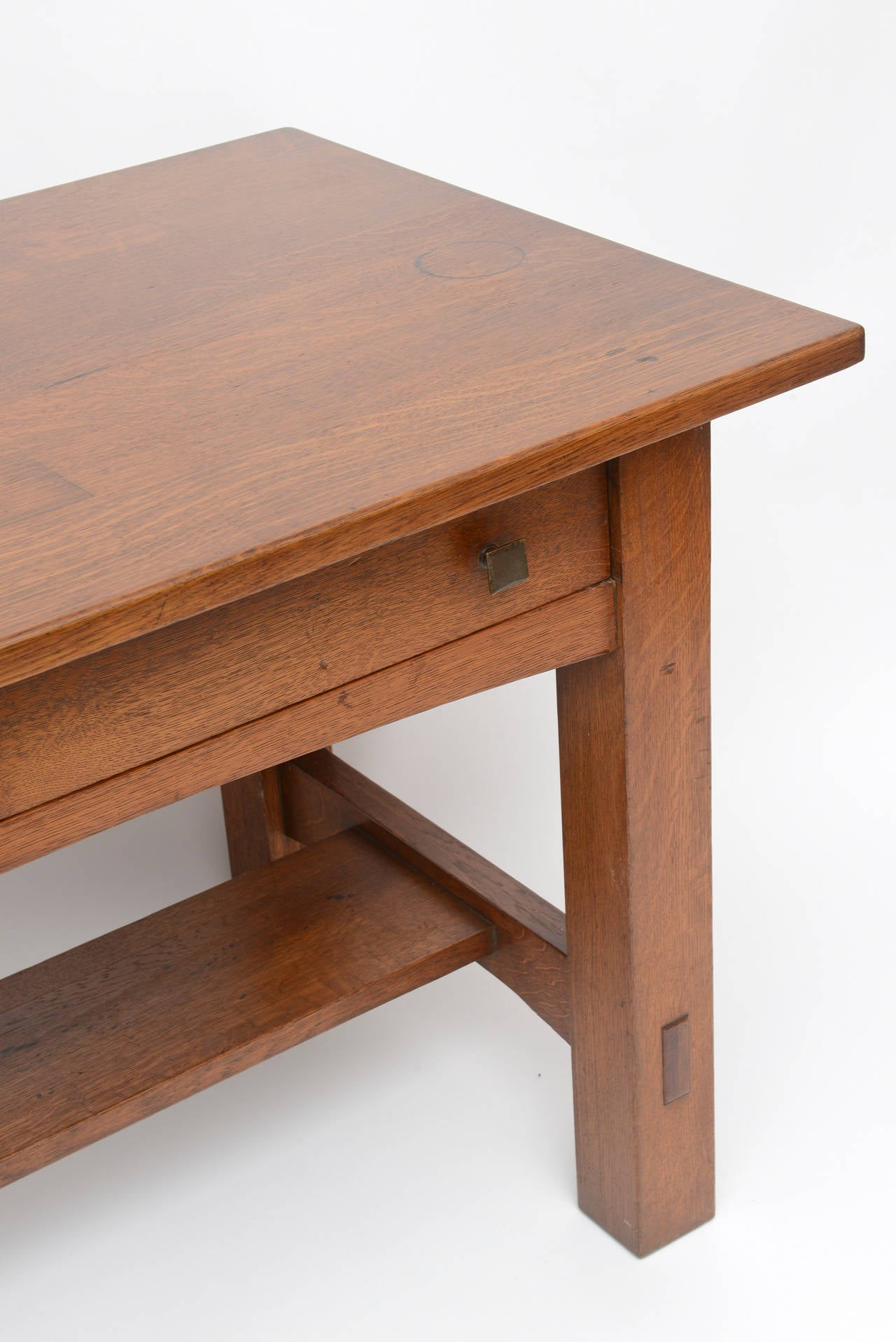 American Limbert Library Table For Sale