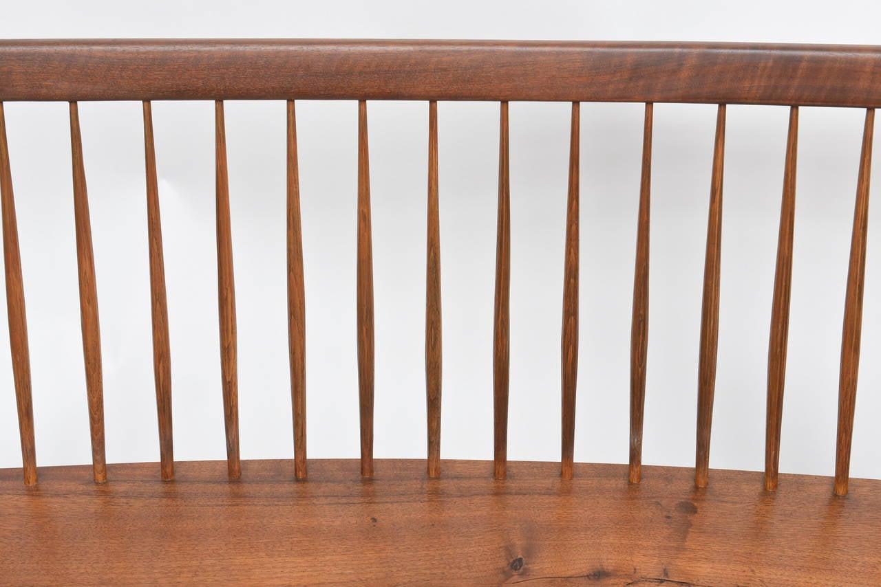Mid-20th Century George Nakashima Walnut Bench For Sale