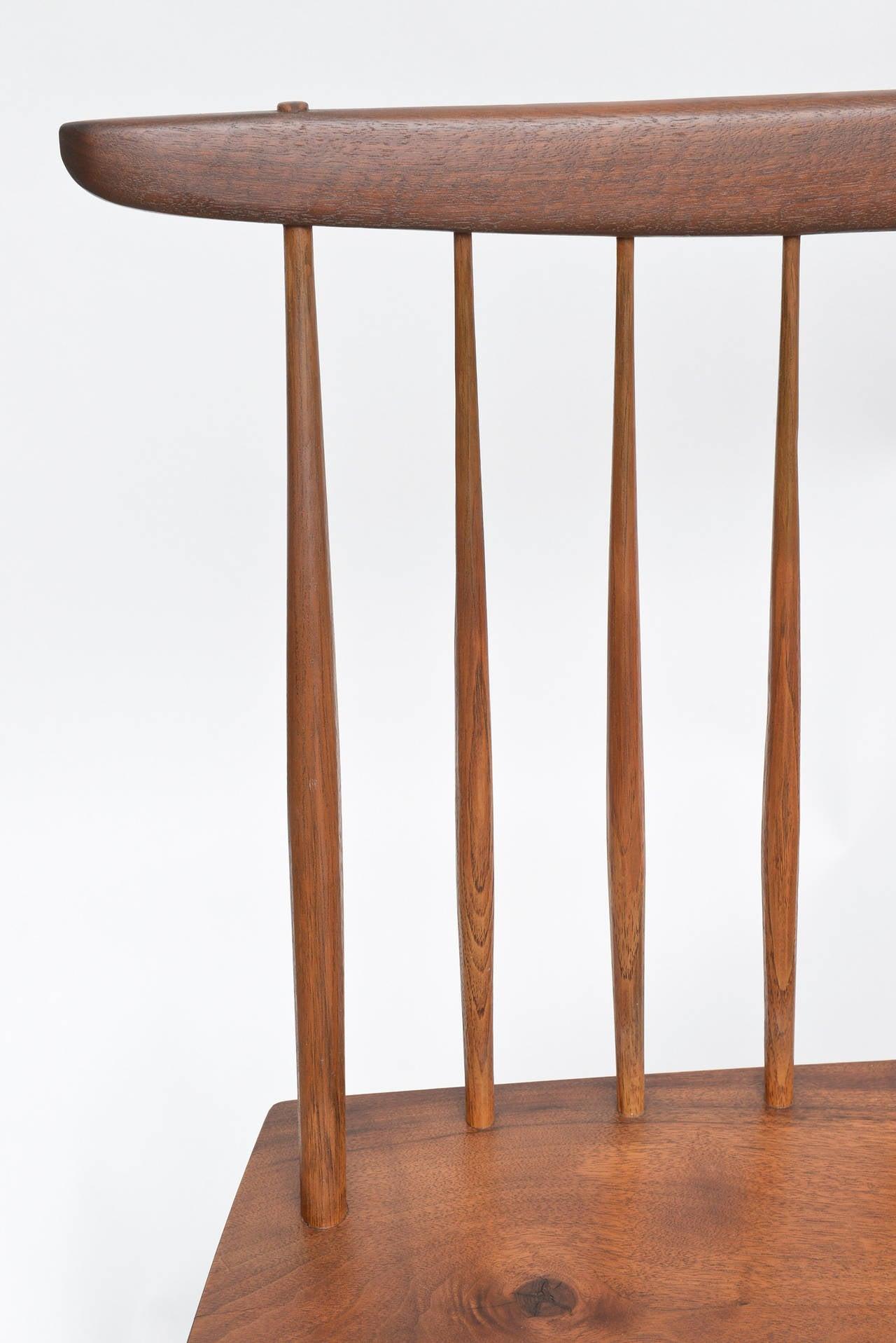 Hickory George Nakashima Walnut Bench For Sale