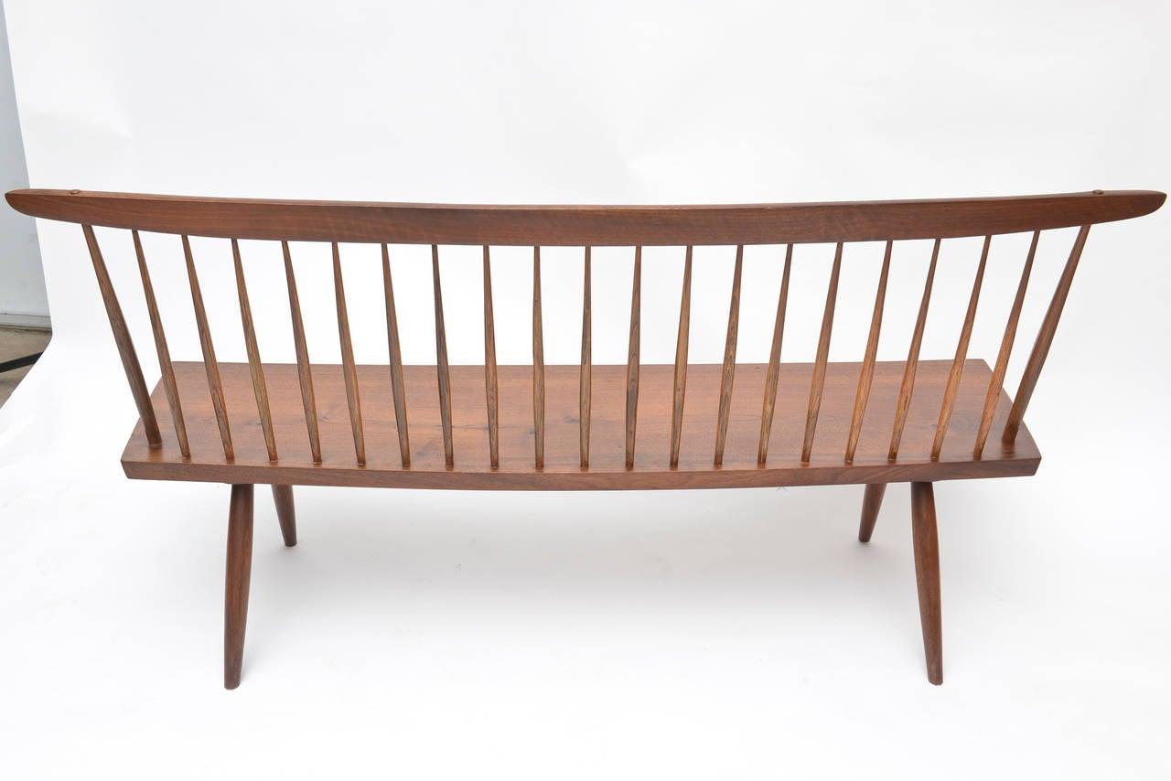 George Nakashima Walnut Bench For Sale 1