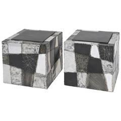 Paul Evans Argente Cube Tables