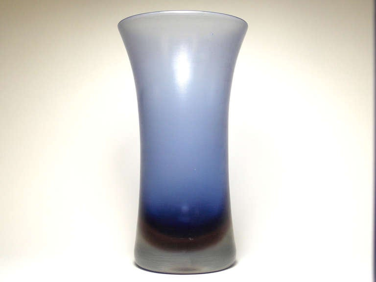 Italian Paolo Venini Inciso Vase For Sale