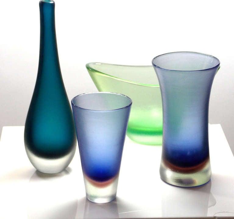 Mid-20th Century Paolo Venini Inciso Vase For Sale