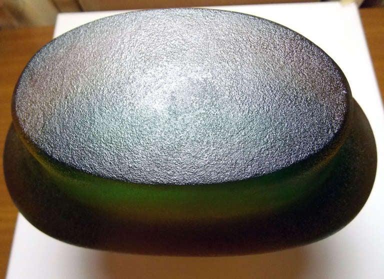 Glass Flavio Poli Corroso Vases For Sale