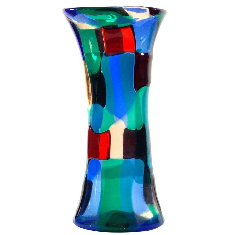 Fulvio Bianconi Pezzato Vase For Sale