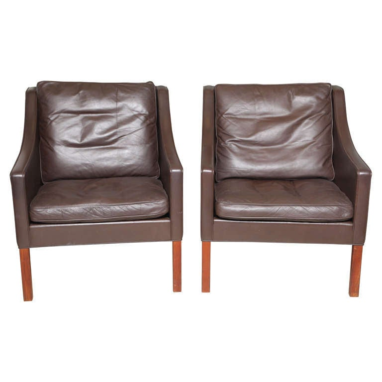 Pair of Borge Mogensen Armchairs