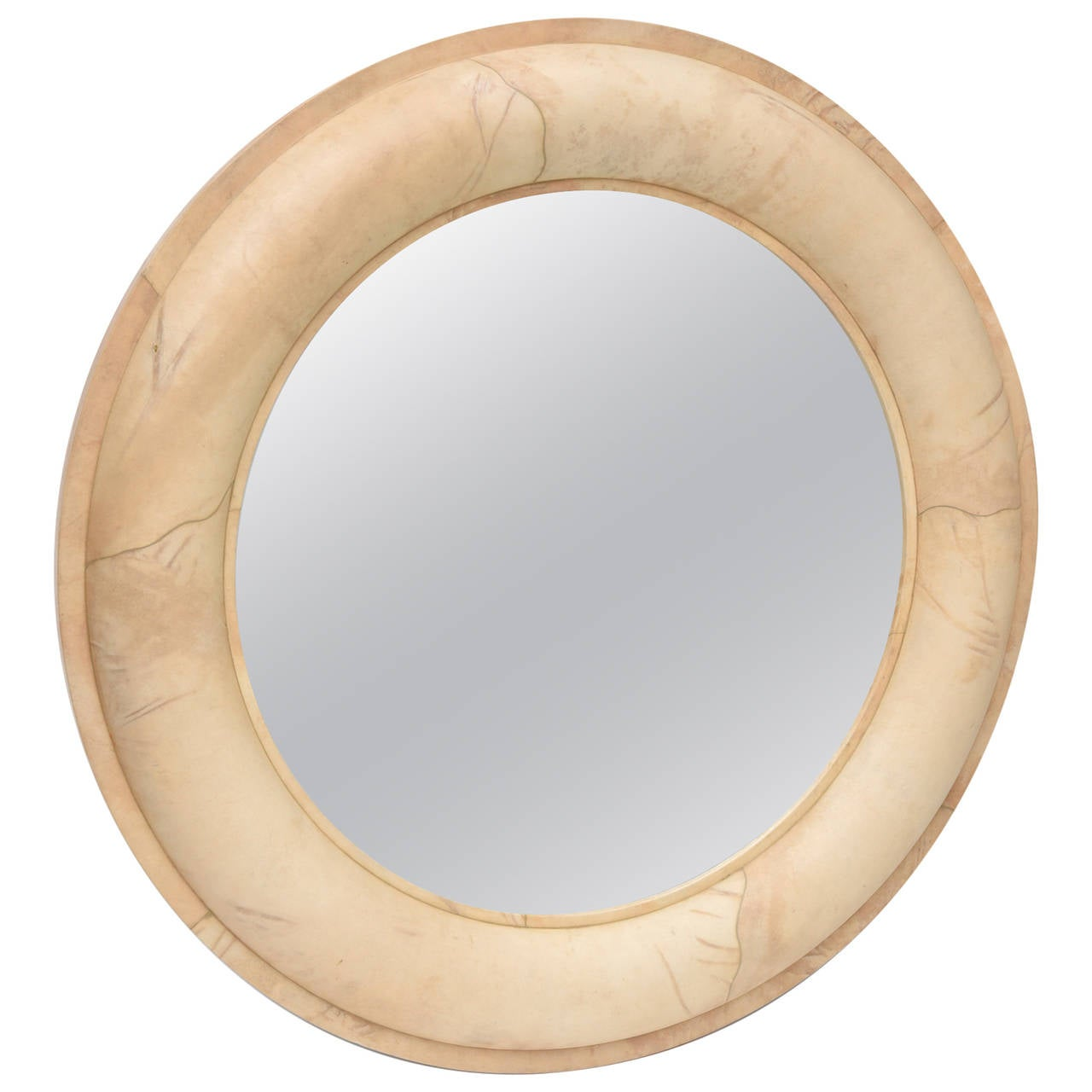 Karl Springer Goatskin Mirror