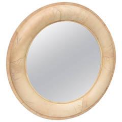 Karl Springer Goatskin Mirror