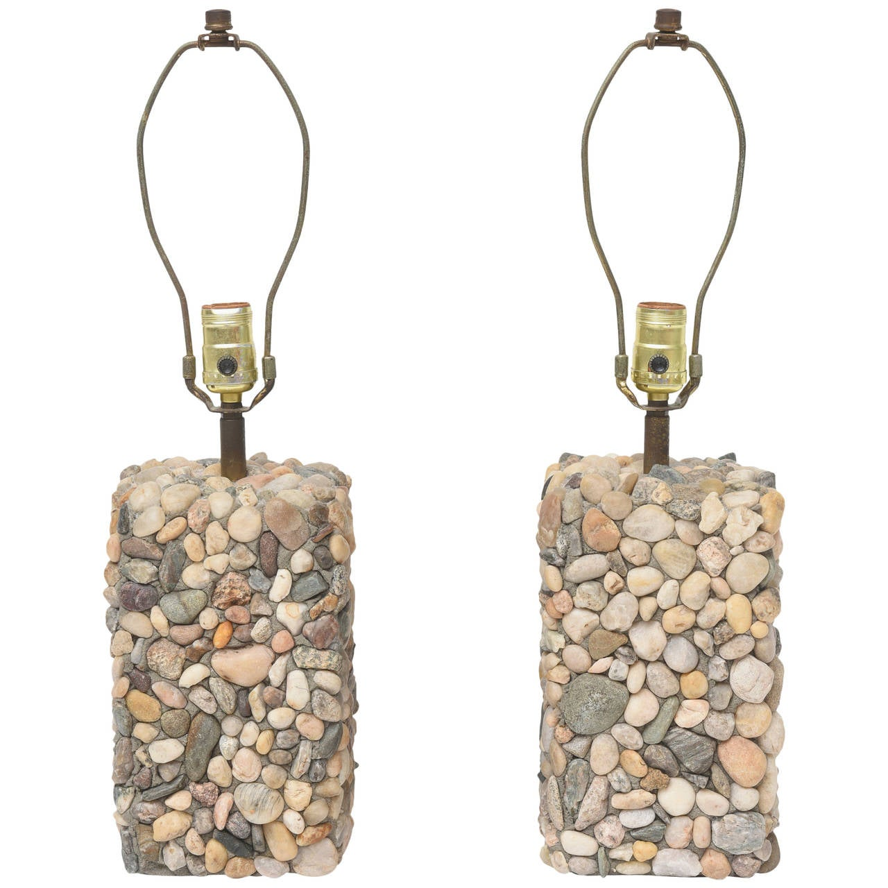 River rock table lamps for sale at 1stdibs for River rock lamp